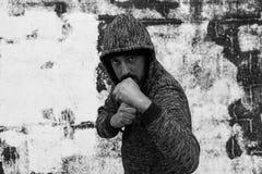 Chłopiec agresywny raper Obrazy Stock