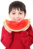 chłopiec arbuz Obraz Royalty Free