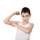 Chłopiec atleta Fotografia Stock