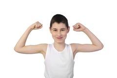 Chłopiec atleta Zdjęcia Royalty Free