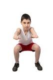 Chłopiec atleta Zdjęcia Stock