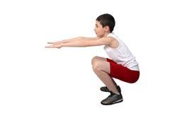 Chłopiec atleta Fotografia Royalty Free