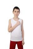 Chłopiec atleta Obraz Royalty Free