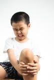 Chłopiec ból od rany Zdjęcia Royalty Free