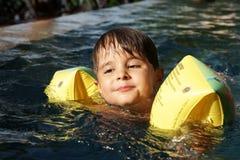 chłopiec basen fotografia royalty free