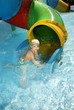 chłopiec basen Zdjęcie Stock