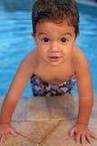 chłopiec basenu potomstwa Zdjęcia Stock