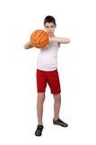 Chłopiec baskerball gracz Obrazy Royalty Free