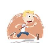 Chłopiec bieg w mundurku szkolnym Fotografia Royalty Free