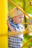 chłopiec boisko Zdjęcie Royalty Free