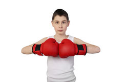 Chłopiec bokser Fotografia Stock