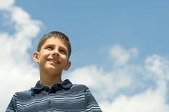 chłopiec chmury Zdjęcia Stock