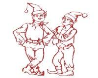chłopiec Claus smokingowy Santa Zdjęcie Royalty Free