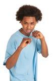 chłopiec czarny bój Zdjęcia Royalty Free