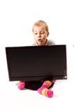 chłopiec cztery monitoru rok Obrazy Stock
