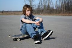 chłopiec deskorolka Fotografia Stock