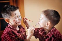 chłopiec dwa Zdjęcia Stock