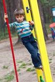 chłopiec dzieci boisko s Obrazy Stock