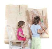 chłopiec dziewczyny obrazu potomstwa Obraz Royalty Free