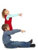 chłopiec e dziewczyny list reprezentuje Obrazy Stock