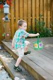 chłopiec Easter jajek target2051_1_ Obraz Royalty Free