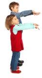 chłopiec f dziewczyny list reprezentuje Zdjęcia Stock