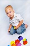 chłopiec farby Zdjęcie Stock