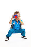 chłopiec fotograf Zdjęcia Royalty Free