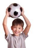 chłopiec futbol Zdjęcia Royalty Free