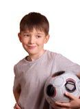 chłopiec futbol Fotografia Royalty Free