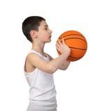 Chłopiec gracz koszykówki Obraz Royalty Free