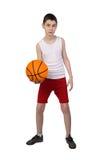 Chłopiec gracz koszykówki Zdjęcia Stock