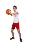 Chłopiec gracz koszykówki Obraz Stock