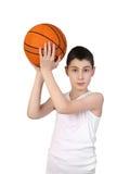 Chłopiec gracz koszykówki Obrazy Stock