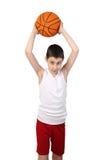 Chłopiec gracz koszykówki Zdjęcie Stock