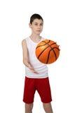 Chłopiec gracz koszykówki Fotografia Stock