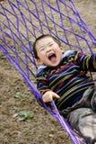 chłopiec hamak obraz royalty free