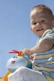 chłopiec helikopter Zdjęcia Royalty Free