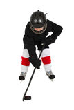 chłopiec hokeja lód Zdjęcia Royalty Free