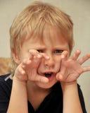 chłopiec horror Zdjęcia Royalty Free