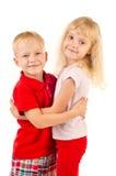 Chłopiec i dziewczyna Obraz Royalty Free
