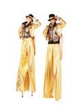 Chłopiec i dziewczyna na stilts Fotografia Stock