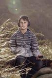Chłopiec i ich muzyka Obraz Stock