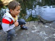 Chłopiec i smok Australia Zdjęcie Stock
