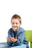 Chłopiec i Wielkanocny jajko Obraz Stock