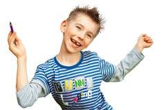 chłopiec ja target151_0_ radosny Zdjęcie Stock