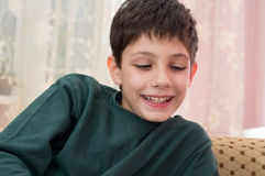 chłopiec ja target170_0_ Zdjęcie Royalty Free