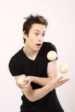 chłopiec juggler Zdjęcie Stock