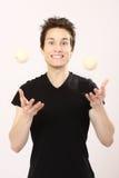 chłopiec juggler obraz stock