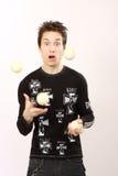 chłopiec juggler obrazy royalty free